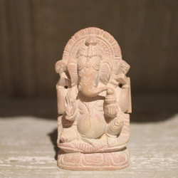 Hand Carved Small Soapstone Ganesha